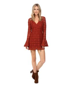 Free People | Back To Black Mini Dress Terracotta Womens Dress
