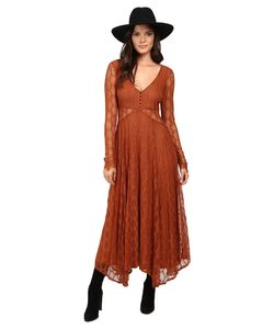 Free People | Guinevere Lace Maxi Dress Womens Dress