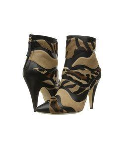 Alberta Ferretti   Calf Leather Mixed Animal Ankle Boot A1566 Fantasy