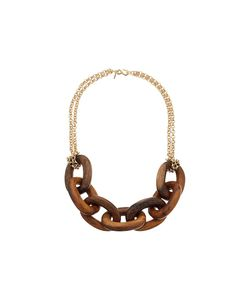 Kenneth Jay Lane | Wood Links Necklace With Polished Chain