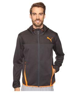 Puma | Pwrwarm Tech Fleece Full Zip Asphalt/Shocking Mens Clothing
