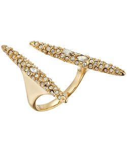Alexis Bittar   Crystal Encrusted Modernist Spear Ring 10k Ring
