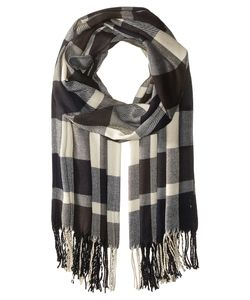 Plush | Ultra Soft Fleece Plaid Scarf Navy/Charcoal Scarves