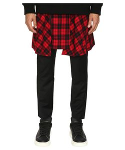 D.Gnak | Pants With Detachable Wrap Check Skirt / Mens Casual