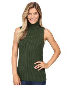 Michael Michael Kors | Shaker Sleeveless Turtleneck Moss Womens Sleeveless
