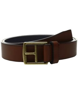 Cole Haan | 32mm Rounded Edge Belt With Contrast Color Lining