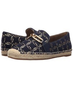 Michael Kors | Lennox Espadrille Maritime Nautical Rings Brocade/Smooth Calf/Jute