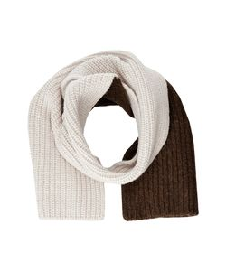 Marni | Asymmetrical Color Detail Rib Scarf Scarves