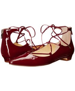 Ivanka Trump | Tropica Dark Patent Womens Flat Shoes