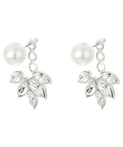 Kenneth Jay Lane | Pearl Top W Crystal Drop Post