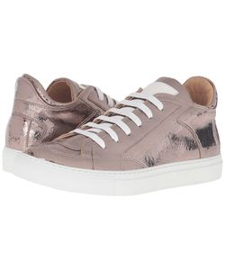 Mm6 Maison Margiela | Logo Low Top Sneaker Bronze Mirror Fabric