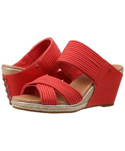 UGG | Hilarie Cayenne Leather Wedge Shoes