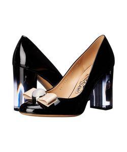 Salvatore Ferragamo | Fiammetta Nero Patent Leather/Macadamia Patent Leather High Heels