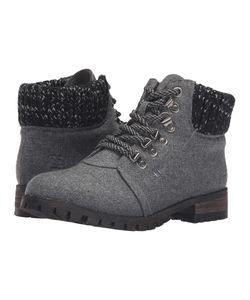 Dirty Laundry | Treble Dark Flannel Lace-Up Boots