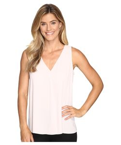 Vince Camuto | Sleeveless V-Neck Drape Front Blouse Hush Womens