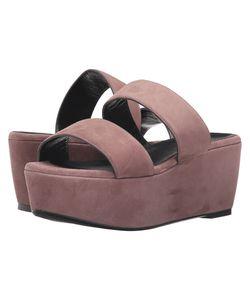 Robert Clergerie   Frazzial Sandalwood Suede Wedge Shoes