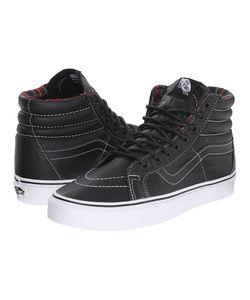 Vans   Sk8-Hi Reissue Leather Plaid Skate Shoes