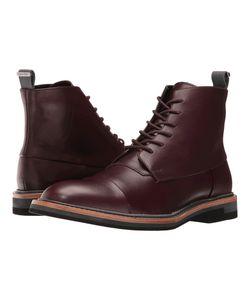Calvin Klein | Jabin Oxblood Calf Leather Boots
