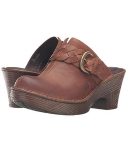 Born | Mahal Russet Full Grain Leather Clog Shoes
