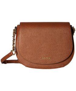 Calvin Klein   Key Items Saffiano Saddle Bag Luggage Cross Body