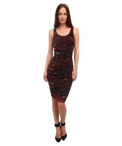 Jean Paul Gaultier   Tulle Ruched Tank Dress Marsala