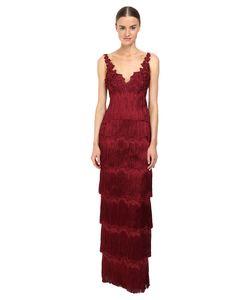 Marchesa Notte | Fringe Gown Dress