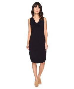 Michael Stars | Modern Rayon Draped Dress W Back Tie Dark
