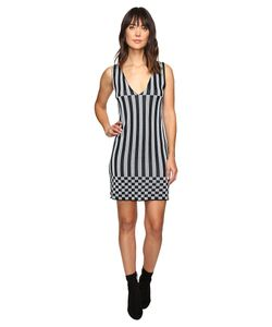 House Of Holland | Knitted Lurex Stripe Dress Dress