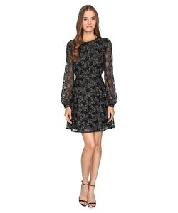 Just Cavalli | Long Sleeve Sheer W Lining Embroidered Dress