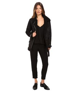 The Kooples   Perfecto In Faux Treated Sheepskin Coat
