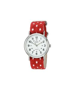 Timex   Weekender Fabric Over Leather Slip-Thru Strap -Tone Watches