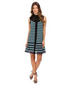 M Missoni | Topstitch Knit Sleeveless Dress W Drop Waist Ruffle