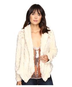 Free People | Embroide Cascade Fur Jacket Ivory Coat