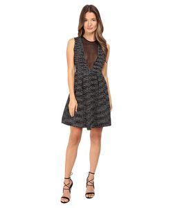 M Missoni | Spacedye Sleeveless Dress W Sheer V-Neck Panel