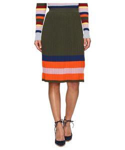 House Of Holland | Knitted Merino Pleated Skirt Skirt