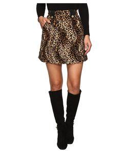 House Of Holland | Velvet Leopard Mini Skirt Leopard Skirt