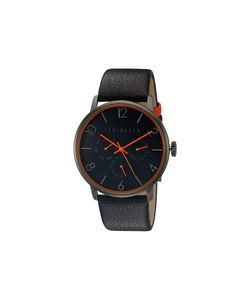 Ted Baker | Smart Casual Leather Gunmetal Watches