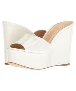 Sergio Rossi | Lakeesha Bianco Patent Wedge Shoes