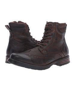 Steve Madden | Gastonn Cognac Lace-Up Boots