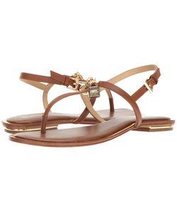 Michael Michael Kors | Suki Thong Luggage Smooth Calf Sandals