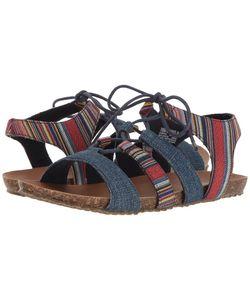 Minnetonka | Elsie Wyoming Stripe Denim Womens Shoes