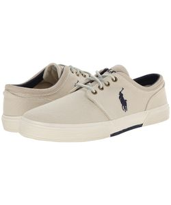 Polo Ralph Lauren   Faxon Low Ivory Cavalry Twill Mens Lace