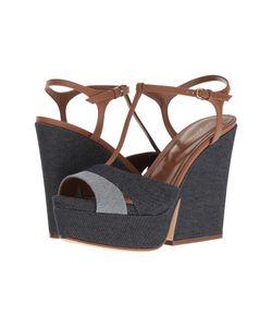 Sergio Rossi | Edwige Denim Wedge Shoes