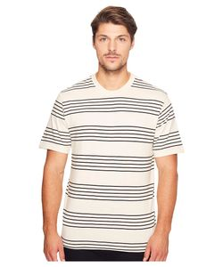 Primitive | Classic Stripe Short Sleeve Crew Ecru Mens Clothing