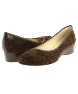 Taryn Rose | Felicity Leopard Stretch Wedge Shoes