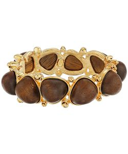 Kenneth Jay Lane | With Dark Wood Cabochons Bangle