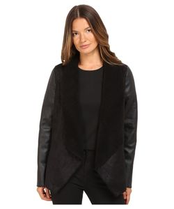 The Kooples   Gilet In Faux Treated Sheepskin With Faux Leather