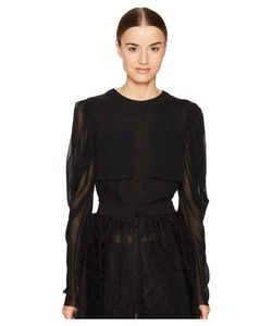 Vera Wang | Long Sleeve Blouse With Patch Pocket