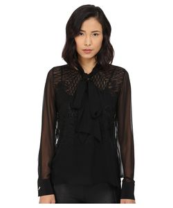 Prabal Gurung | Embroide Sheet Long Sleeve Top Womens Blouse