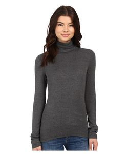 Splendid | 1x1 Long Sleeve Turtleneck Charcoal Long Sleeve Pullover